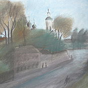 Картины и панно handmade. Livemaster - original item the pastel City Borovsk. Handmade.