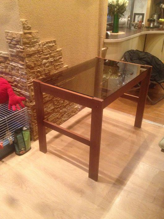 Мебель ручной работы. Ярмарка Мастеров - ручная работа. Купить Стол. Handmade. Стол, стекло