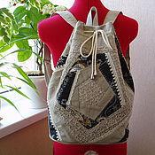"""Рюкзаки ручной работы. Ярмарка Мастеров - ручная работа Рюкзак - торба """"Лоскутный переполох"""". Handmade."""