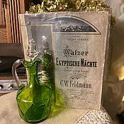 Винтаж handmade. Livemaster - original item Victorian Peerless Decanter. XIX century. Handmade.