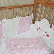 Для дома и интерьера ручной работы. Ярмарка Мастеров - ручная работа Бортики в детскую кроватку. Handmade.