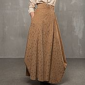 Одежда handmade. Livemaster - original item B_001 a-line Skirt long, cream-brulee color.. Handmade.