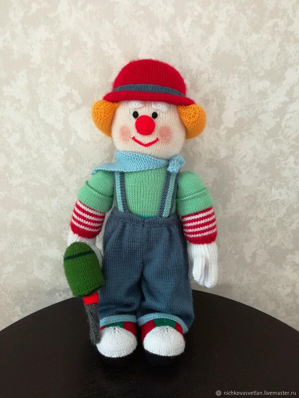 """Детская ручной работы. Ярмарка Мастеров - ручная работа. Купить Интерьерная кукла """"Клоун"""". Handmade. Клоун, интерьерная кукла"""