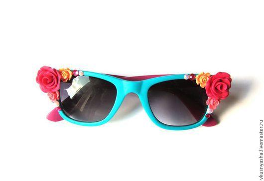 Очки ручной работы. Ярмарка Мастеров - ручная работа. Купить Очки с розами солнцезащитные. Handmade. Очки, розочки, ручная работа