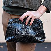 Сумки и аксессуары handmade. Livemaster - original item Handbag Vintage genuine leather Cobra and eel. Handmade.