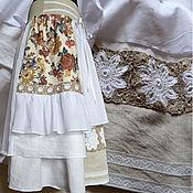 """Одежда ручной работы. Ярмарка Мастеров - ручная работа Бохо-юбка """"Сухоцветы"""". Handmade."""