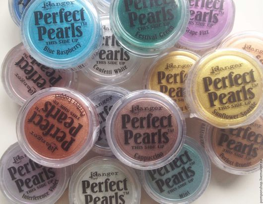Открытки и скрапбукинг ручной работы. Ярмарка Мастеров - ручная работа. Купить Пудра Perfect Pearls (30 цветов). Handmade. Разноцветный