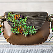Сумки и аксессуары handmade. Livemaster - original item Bag for small Pine branches. Handmade.