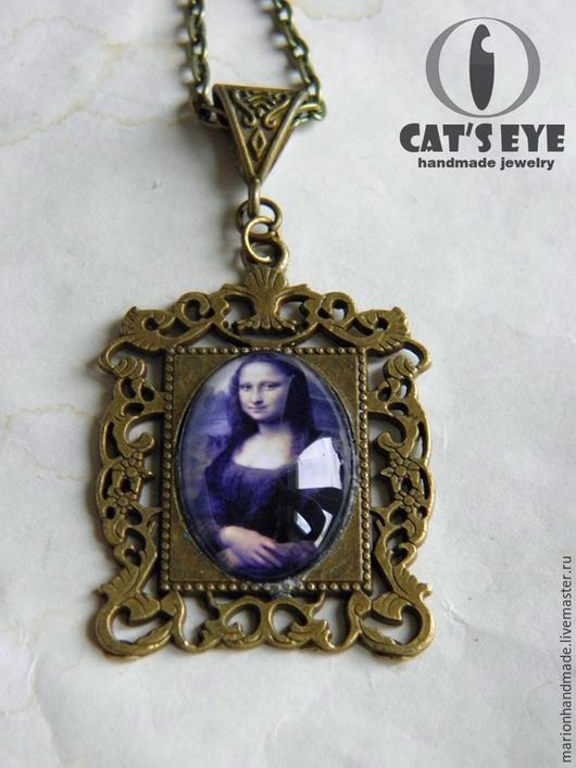 """Кулоны, подвески ручной работы. Ярмарка Мастеров - ручная работа. Купить Кулон-картина """"Мона Лиза"""". Handmade. Картина"""