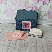 Кукольные домики ручной работы. Ярмарка Мастеров - ручная работа Джинсовый домик-сумочка. Handmade.
