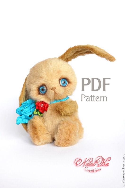 Куклы и игрушки ручной работы. Ярмарка Мастеров - ручная работа. Купить Выкройка зайчика тедди Лапо 12 см. Handmade.