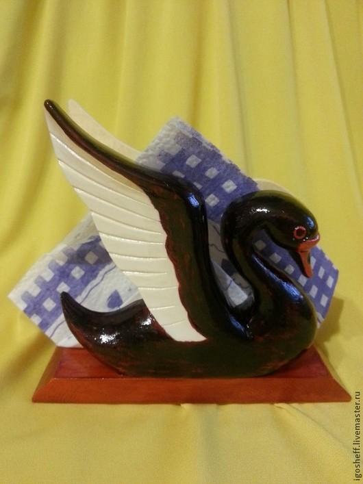 """Кухня ручной работы. Ярмарка Мастеров - ручная работа. Купить Салфетница """"Лебеди"""". Handmade. Салфетница, резьба, лебедь, птицы, деревянный"""