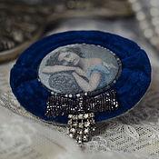 Украшения ручной работы. Ярмарка Мастеров - ручная работа брошь-портрет BlueVelvet. Handmade.