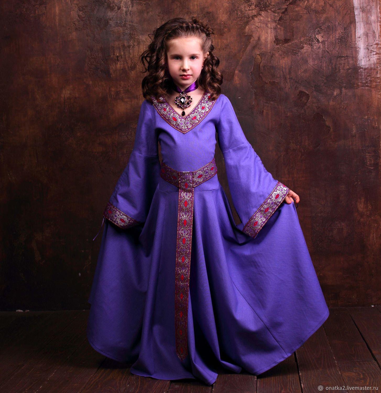 Vestido de elfijskoj de la princesa (fialkovoe con la plata ...