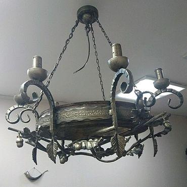 Освещение ручной работы. Ярмарка Мастеров - ручная работа Люстра кованая Дубовая ветвь. Handmade.