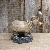 Для дома и интерьера ручной работы. Ярмарка Мастеров - ручная работа Зевающий бегемот. Handmade.