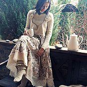 Одежда ручной работы. Ярмарка Мастеров - ручная работа Сарафан длинный  Алиса ( бохо, для беременных). Handmade.