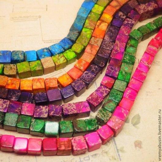Для украшений ручной работы. Ярмарка Мастеров - ручная работа. Купить Варисцит кубик. 7 цветов. Handmade. Разноцветный, кубики