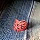 """Браслеты ручной работы. Ярмарка Мастеров - ручная работа. Купить Браслет """" Нужный"""".. Handmade. Коралловый, яркий браслет, кружево"""