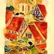 Картины и панно ручной работы. Ярмарка Мастеров - ручная работа Город мечты. Handmade.