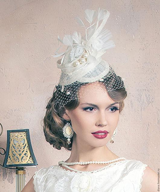 Одежда и аксессуары ручной работы. Ярмарка Мастеров - ручная работа. Купить Футуристическая шляпка в ретро стиле. Handmade. Белый