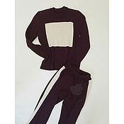 Одежда ручной работы. Ярмарка Мастеров - ручная работа Костюм вязаный с лампасами. Handmade.