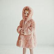 Одежда ручной работы. Ярмарка Мастеров - ручная работа Детская шуба для девочки розовая. Handmade.