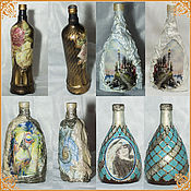 Сувениры и подарки handmade. Livemaster - original item Decorative bottles - one flower vase. Handmade.
