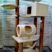 Когтеточки ручной работы. Ярмарка Мастеров - ручная работа Когтеточки: Домик для питомца: Комплекс для больших кошек номер 150. Handmade.