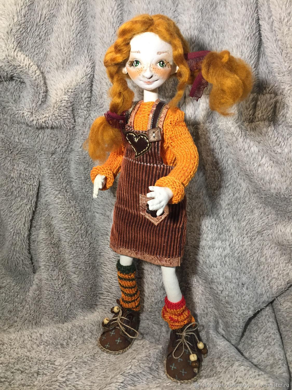 Авторская текстильная кукла Пеппилотта, Будуарная кукла, Москва,  Фото №1