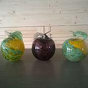 Для дома и интерьера ручной работы. Ярмарка Мастеров - ручная работа Стеклянные яблоки.3 шт. Гутное стекло.Пенза.. Handmade.