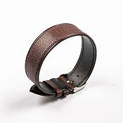 Украшения handmade. Livemaster - original item Dark brown solid genuine leather strap. Handmade.
