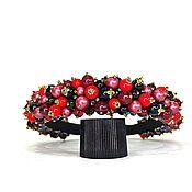 Украшения handmade. Livemaster - original item A rim of beads and glass. Handmade.