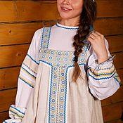 Народные костюмы ручной работы. Ярмарка Мастеров - ручная работа Сарафан, очелье, длинная рубаха арт.1212. Handmade.
