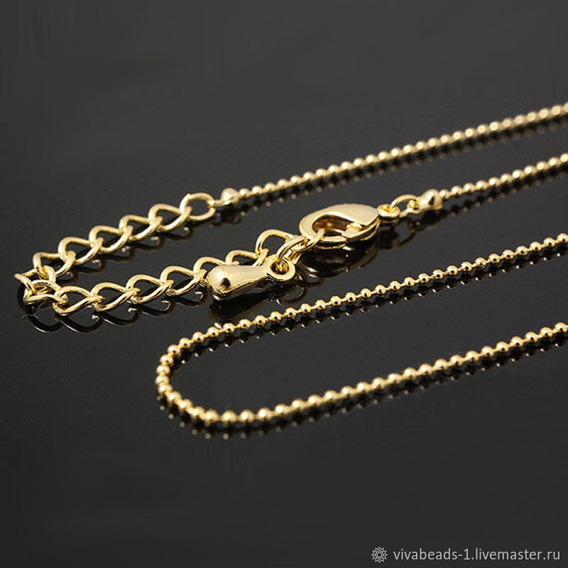 Chain with lock ready 42 cm 5 cm gold plated Yu. Korea (3877), Chains, Voronezh,  Фото №1