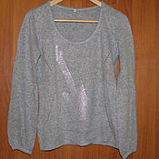Винтаж handmade. Livemaster - original item Vintage clothing: Knitted jacket with long sleeves from Angora. Handmade.