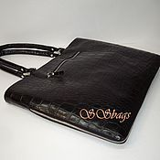 Сумки и аксессуары handmade. Livemaster - original item Bag-folder female. Natural black leather.. Handmade.