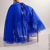 """Одежда ручной работы. Ярмарка Мастеров - ручная работа Юбка-пачка,,Блю- Кюрасао,, и"""" """"Синяя волна"""". Handmade."""