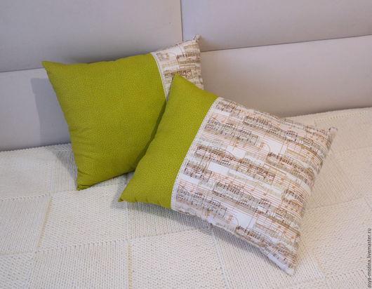Текстиль, ковры ручной работы. Ярмарка Мастеров - ручная работа. Купить Подушки декоративные из хлопка. Handmade. Оливковый, гостиная