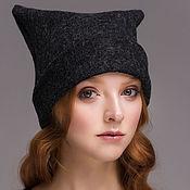 Аксессуары handmade. Livemaster - original item Wool cap with ears. Handmade.