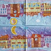 Материалы для творчества handmade. Livemaster - original item napkins for decoupage Favorite town print. Handmade.