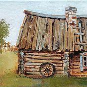 Картины и панно handmade. Livemaster - original item The picture a house in the village. Handmade.