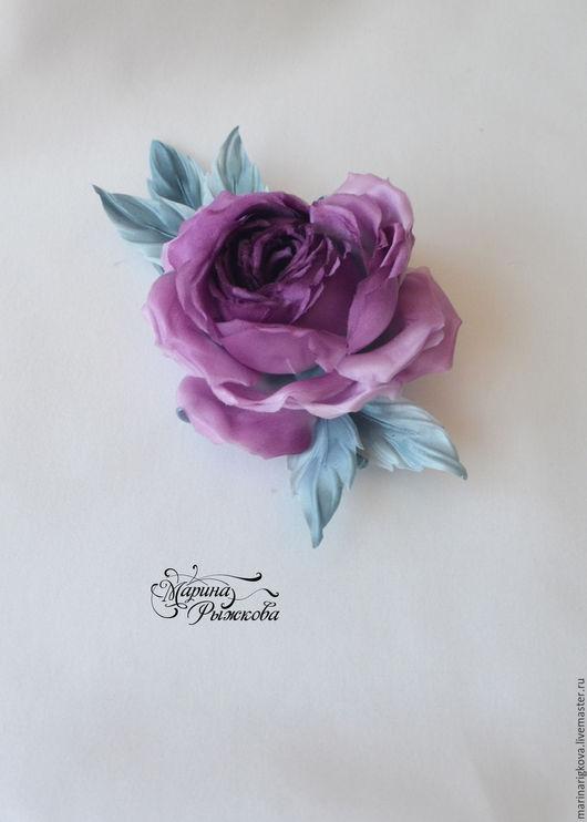 """Цветы ручной работы. Ярмарка Мастеров - ручная работа. Купить Роза """"Каролина"""". Handmade. Роза из шелка, украшение для девушки"""