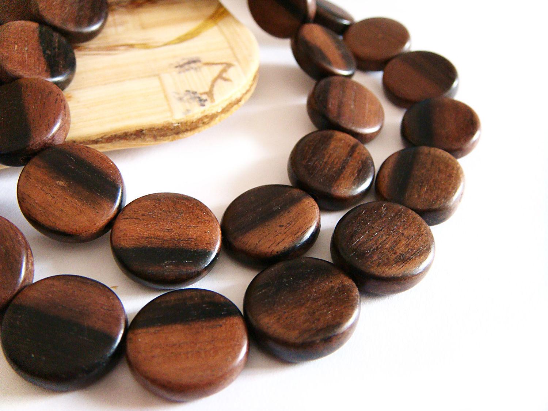 Beads black Ebony Kamagong coin 15h3mm, Beads1, Bryansk,  Фото №1