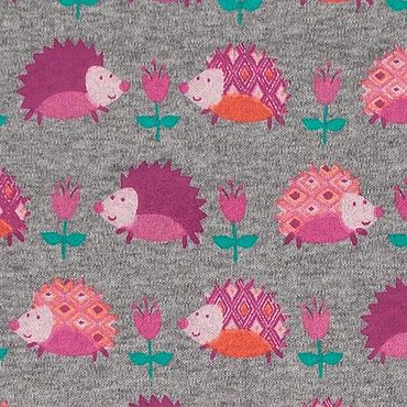 Materials for creativity handmade. Livemaster - original item Fabric: Italian cotton Jersey hedgehogs. Handmade.