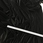 Ткани ручной работы. Ярмарка Мастеров - ручная работа Бархат Valentino, цвет: черный. Handmade.