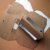 Материалы для творчества ручной работы. Ярмарка Мастеров - ручная работа Коробка крафт, с окошком, сборная, коробочки, крафт, коробочки эко. Handmade.