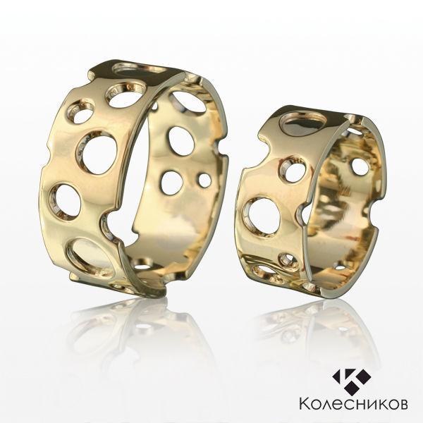 Gold rings 'Cheese' (wedding, engagement), Wedding rings, Yaroslavl,  Фото №1
