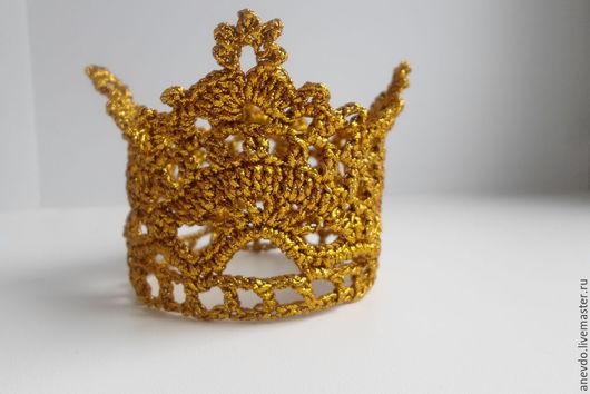 Повязки ручной работы. Ярмарка Мастеров - ручная работа. Купить корона  золотая. Handmade. Золотой, корона, корона для девочки