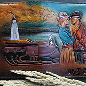 Канцелярские товары handmade. Livemaster - original item Travel diary A5 embossing, coloring, painting. Handmade.